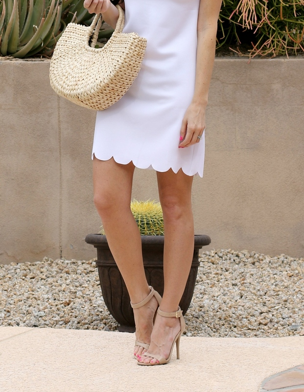 White Easter Dress | Scalloped Hem | Teacherfashionista | Jules