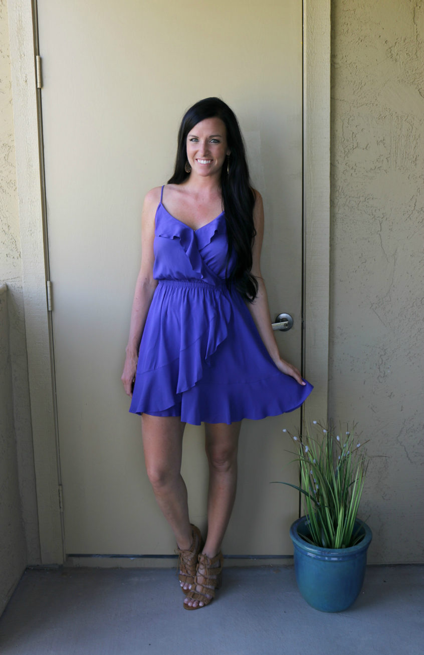 Ruffle dress, Express style, Nordstrom Giveaway, Teacherfashionista