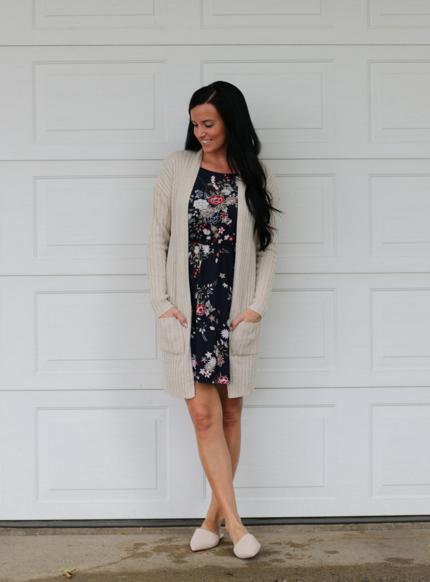 Summer to Fall Dress | Floral Dress | Nordstrom | Teacherfashionista | Jules