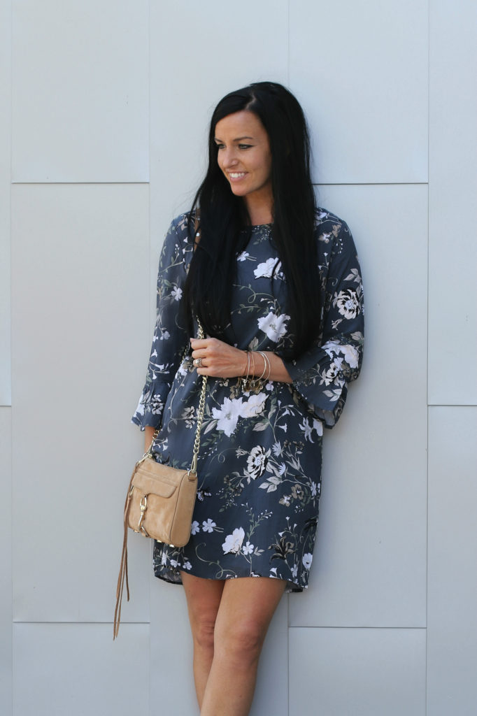 Ruffle Sleeve Dress | Fall Floral Dress | Teacherfashionista | Jules